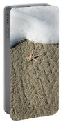 Starfish On The Beach Portable Battery Charger