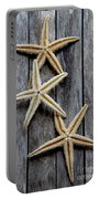 Starfishes In Wooden Portable Battery Charger