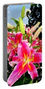 Stargazer Lilies #2 Portable Battery Charger