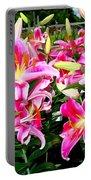 Stargazer Lilies #5 Portable Battery Charger
