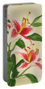 Stargazer Lilies - Watercolor Portable Battery Charger