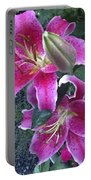 Stargazer Lilies II Portable Battery Charger