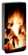 Staring Into The Fire Portable Battery Charger