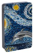 Starry Night Dolphin Portable Battery Charger
