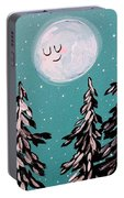 Starry Night Moon  Portable Battery Charger