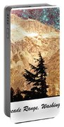 Starry Night Over Mount Baker Portable Battery Charger