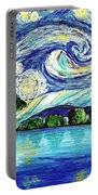 Starry Night Over The Lake Portable Battery Charger