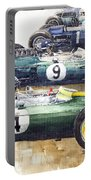 1963 Start British Gp  - Lotus  Brabham  Brm  Brabham Portable Battery Charger
