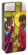 Stations Of The Cross - 05 Simon Helps Jesus Carry The Cross - Mmshj Portable Battery Charger