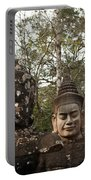 Statue Heads Ankor Thom Portable Battery Charger