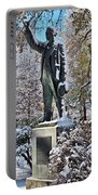 Statue In The Snow Portable Battery Charger