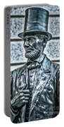 Statue Of Abraham Lincoln #7 Portable Battery Charger