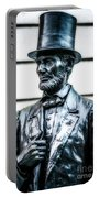 Statue Of Abraham Lincoln #9 Portable Battery Charger