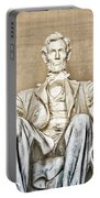 Statue Of Abraham Lincoln - Lincoln Memorial #3 Portable Battery Charger