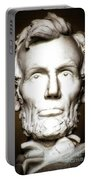 Statue Of Abraham Lincoln - Lincoln Memorial #5 Portable Battery Charger