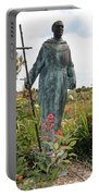 Statue Of Father Serra At Carmel Mission Portable Battery Charger