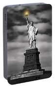 Statue Of Liberty At Dusk Portable Battery Charger