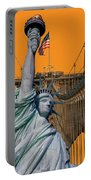 Statue Of Liberty - Brooklyn Bridge Portable Battery Charger