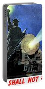 Statue Of Liberty With Steam Train, We Shall Not Fail Portable Battery Charger