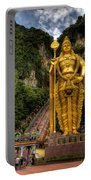 Statue Of Murugan Portable Battery Charger by Adrian Evans