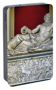 Statue Of The Greek River God Tiberinus At The Vatican Museum Portable Battery Charger