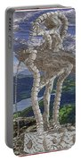 Statue On The Rocks  Portable Battery Charger