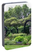 Statues In A Garden Portable Battery Charger