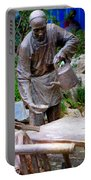 Statues Of After Noon Tea Portable Battery Charger
