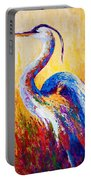 Steady Gaze - Great Blue Heron Portable Battery Charger