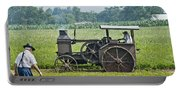 Steam Engine Plowing Portable Battery Charger