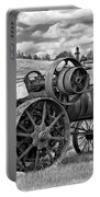 Steam Powered Tractor - Paint Bw Portable Battery Charger