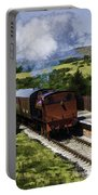 Steam Train 2 Oil Painting Effect Portable Battery Charger