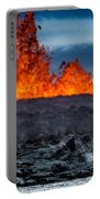Steaming Lava And Plumes Portable Battery Charger