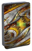 Steampunk - Spiral - Space Time Continuum Portable Battery Charger