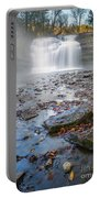 Steamy Morning At Pixley Falls Portable Battery Charger