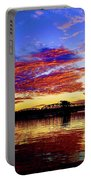 Steel Bridge Sunset Silhouette Portable Battery Charger