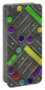 Steel Plate Geometrics Portable Battery Charger