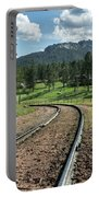 Steel Tracks In The Black Hills Portable Battery Charger
