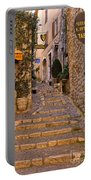 Steep Street In St Paul De Vence Portable Battery Charger