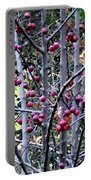 Stellar Jay In Crab Apples Portable Battery Charger