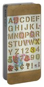 Stencil Alphabet Fun Portable Battery Charger by Scott Norris