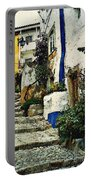 Step Street In Obidos Portable Battery Charger