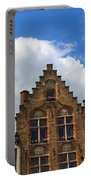 Stepped Gables Of The Brick Houses In Jan Van Eyck Square Portable Battery Charger