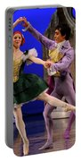 Stepsister Ballerinas En Pointe And Guests Ballroom Dancing In B Portable Battery Charger