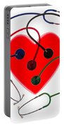 Stethoscopes And Plastic Heart Portable Battery Charger