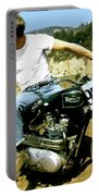Steve Mcqueen, Triumph Motorcycle, On Any Sunday Portable Battery Charger