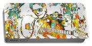 Steve Vai Paint Splatter Portable Battery Charger