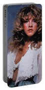 Stevie Nicks In Curls Portable Battery Charger