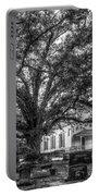 Still Faithful B W God Bethany Presbyterian Church The Old Oak Tree Greene County Georgia Art Portable Battery Charger