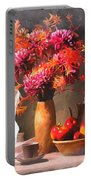 Still - Floral And Fruit Portable Battery Charger